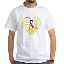 Bladder Cancer Heart Words Shirt