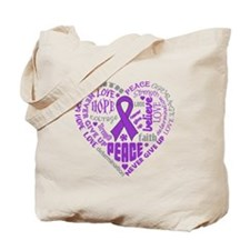 Alzheimers Disease Heart Words Tote Bag
