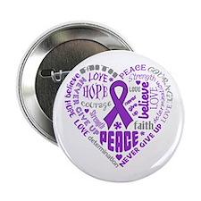 """Alzheimers Disease Heart Words 2.25"""" Button"""