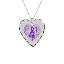 Alzheimers Disease Heart Words Necklace