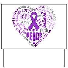 Alzheimers Disease Heart Words Yard Sign