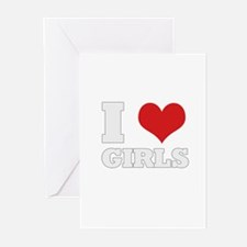 i love girls Greeting Cards (Pk of 10)