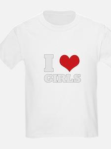 i love girls Kids T-Shirt