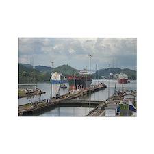 Panama: Miraflores Locks at t Rectangle Magnet