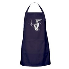 Hot stick in white for dark colored items Apron (d