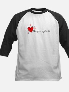 """I Love You"" [Welsh] Kids Baseball Jersey"
