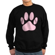 100% Pink Dog Pawprint  Sweatshirt