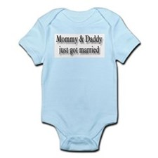 Mommy Daddy Just Married Infant Creeper