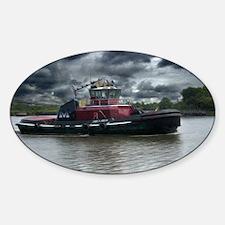 Tugboat Moran Sticker (Oval)