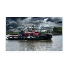 Tugboat Moran Rectangle Car Magnet