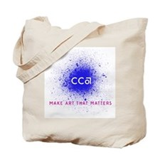 CCA Blue Spray Tote Bag