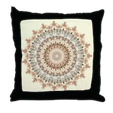 Natural Vintage Mandala kaleidoscope Throw Pillow