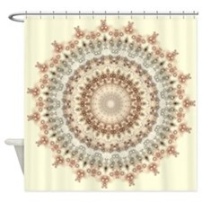 Natural Vintage Mandala kaleidoscope Shower Curtai