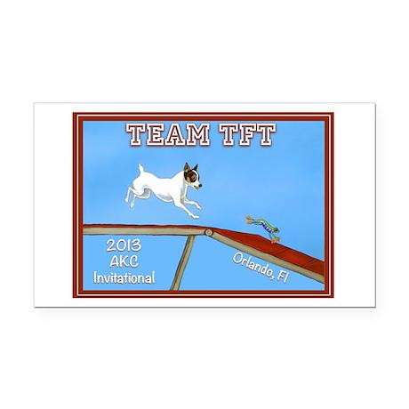 2013 Team TFT Logo Rectangle Car Magnet