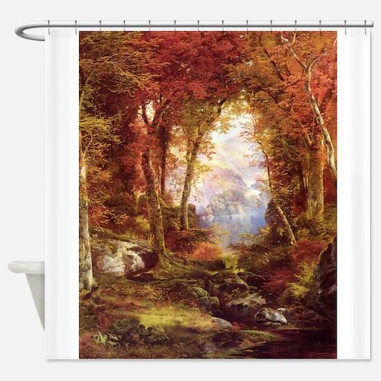 Autumn Trees Fine Art Shower Curtain