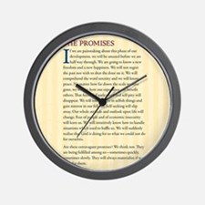 The Promises Wall Clock