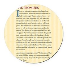 The Promises Round Car Magnet