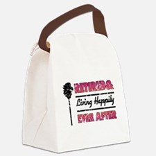 Retired (Happily Ever After) Canvas Lunch Bag