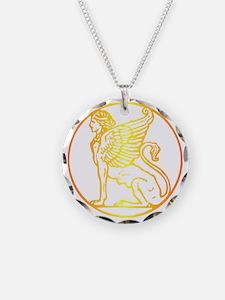Golden Sphinx Round Necklace