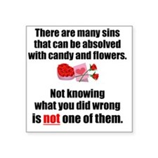 """Candy  Flowers Square Sticker 3"""" x 3"""""""