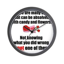 Candy  Flowers Wall Clock