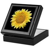 Sunflower boxes Square Keepsake Boxes