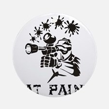 eat paint Round Ornament