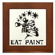 eat paint Framed Tile