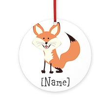 Personalized Fox Ornament (Round)
