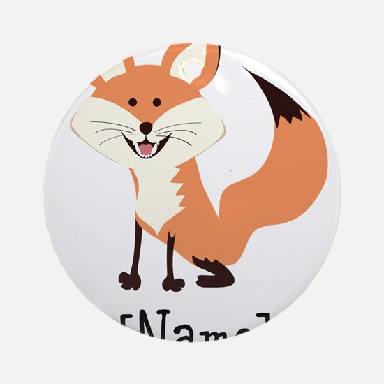 Personalized Fox Ornament (Round)