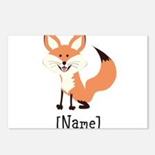 Personalized Fox Postcards (Package of 8)