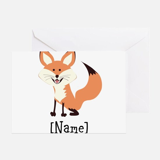 Personalized Fox Greeting Card