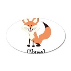 Personalized Fox Wall Sticker