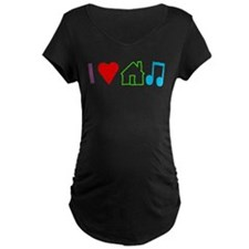 I Heart House Music (Color) Maternity T-Shirt