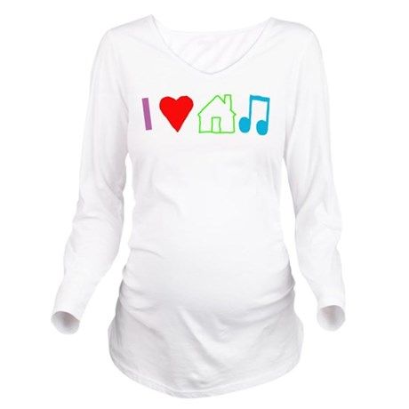 I Heart House Music (Color) Long Sleeve Maternity