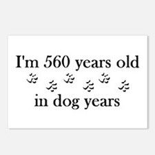 80 birthday dog years 4-2 Postcards (Package of 8)