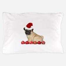 Christmas pug dog Pillow Case