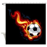 Soccer shower curtain Shower Curtains