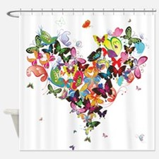Unique Butterfly Shower Curtain