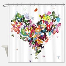 Cute Butterflies Shower Curtain
