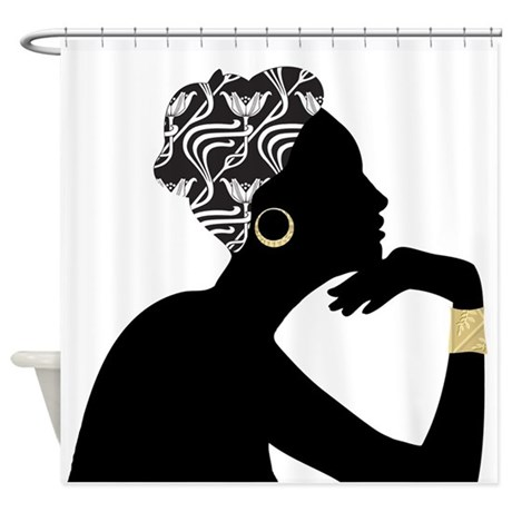 African American Woman Shower Curtain By Thehappyhome1