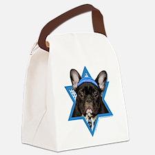 Hanukkah Star of David - Frenchie Canvas Lunch Bag