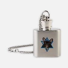 Hanukkah Star of David - Frenchie Flask Necklace