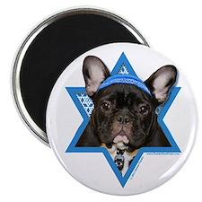 "Hanukkah Star of David - Frenchie 2.25"" Magnet (10"