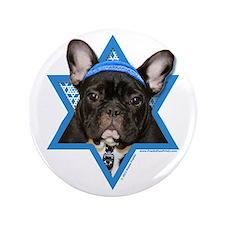 "Hanukkah Star of David - Frenchie 3.5"" Button"