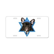 Hanukkah Star of David - Frenchie Aluminum License