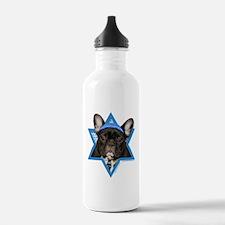 Hanukkah Star of David - Frenchie Water Bottle