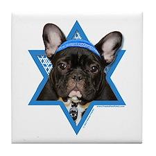 Hanukkah Star of David - Frenchie Tile Coaster