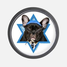 Hanukkah Star of David - Frenchie Wall Clock