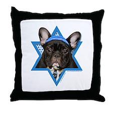 Hanukkah Star of David - Frenchie Throw Pillow